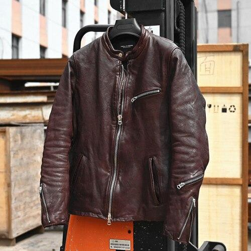 Otranto Genuine Leather Jacket real leather biker jacket for men Zong Hong