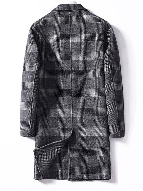 Otranto Wool Overcoat winter coat jacket for men Gray