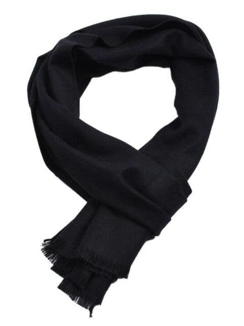 topman topgoldman boss luxury elegant scarf scarves for men-black-30x180cm