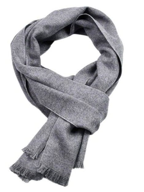 topman topgoldman boss luxury elegant scarf scarves for men-Light Gray-30x180cm