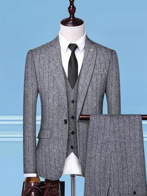 topman topgoldman boss luxury elegant business suits-gray-M