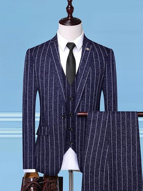 topman topgoldman boss luxury elegant business suits-Navy blue-M