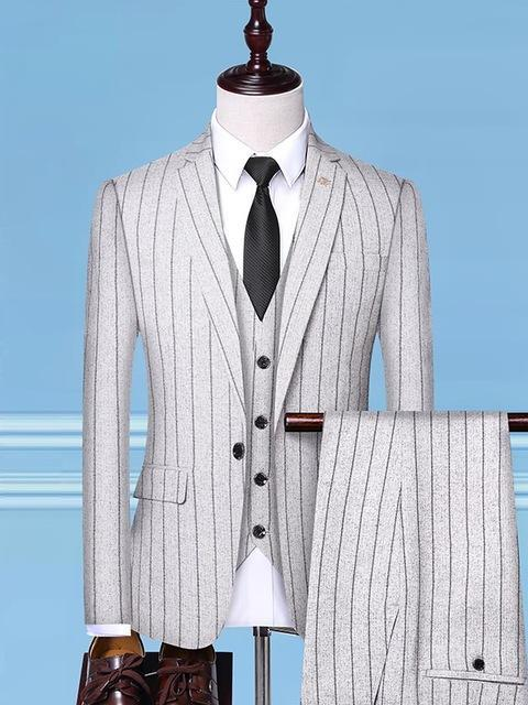 topman topgoldman boss luxury elegant business suits-rice white-M