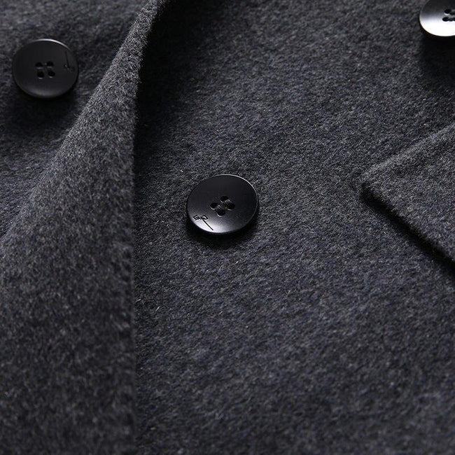 Taranto Wool Overcoat winter coat jacket for men Black
