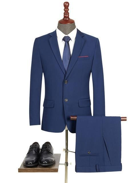 topman topgoldman boss luxury elegant business suits-Blue-L
