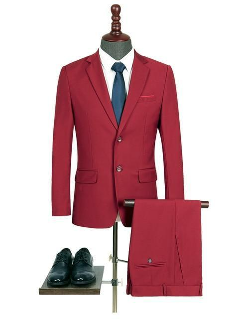 topman topgoldman boss luxury elegant business suits-Red-L