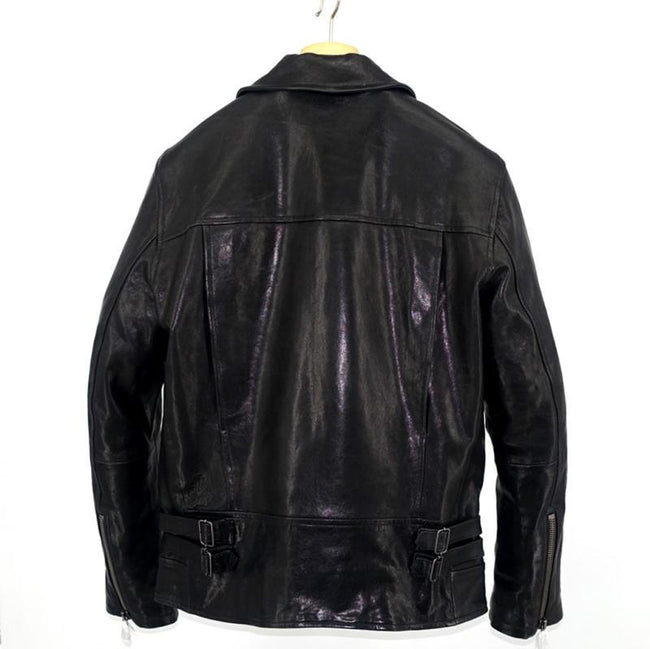 Vittorio Genuine Leather Jacket real leather biker jacket for men Black