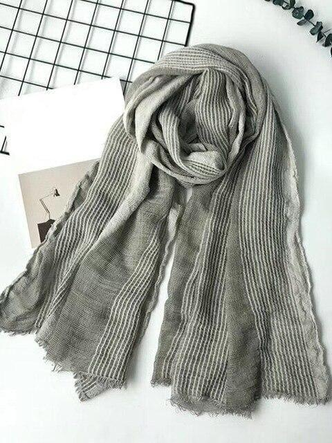 topman topgoldman boss luxury elegant scarf scarves for men-RL GRAY-