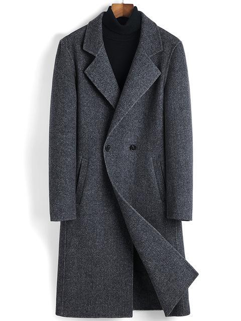 Vittorio Wool Overcoat winter coat jacket for men Dark Gray