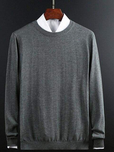 topman topgoldman boss luxury elegant sweaters for men-Dark Grey-L