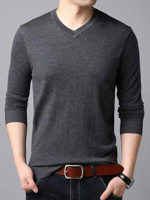 topman topgoldman boss luxury elegant sweaters for men-GRAY-L