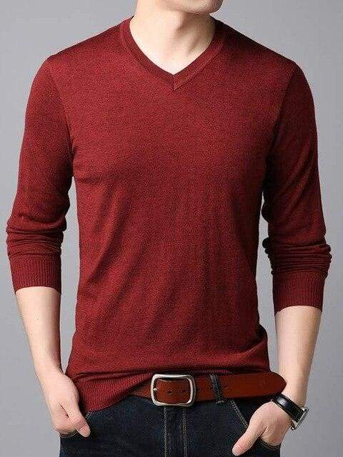 topman topgoldman boss luxury elegant sweaters for men-Red-L