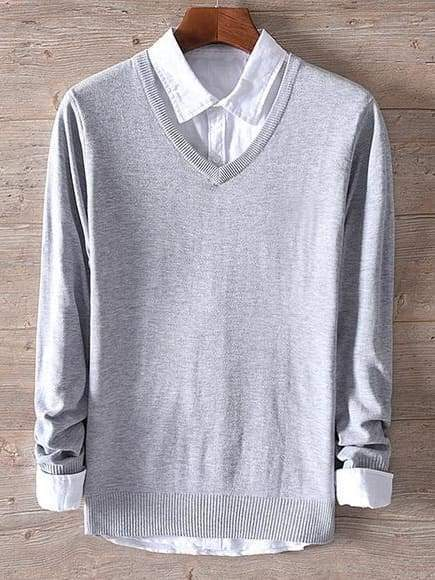 topman topgoldman boss luxury elegant sweaters for men-gray-L (Asian size)