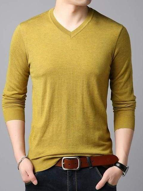 topman topgoldman boss luxury elegant sweaters for men-Yellow-M