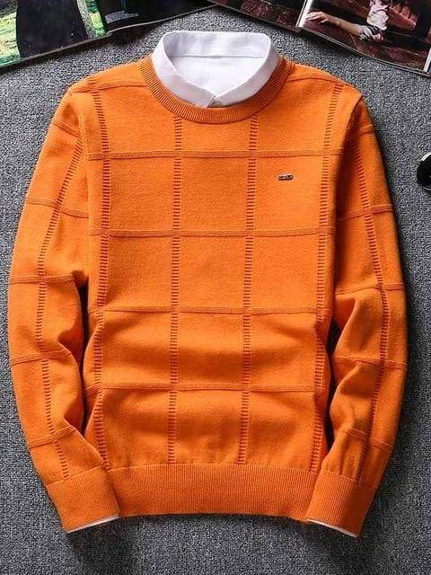 topman topgoldman boss luxury elegant sweaters for men-asian size-orange-M