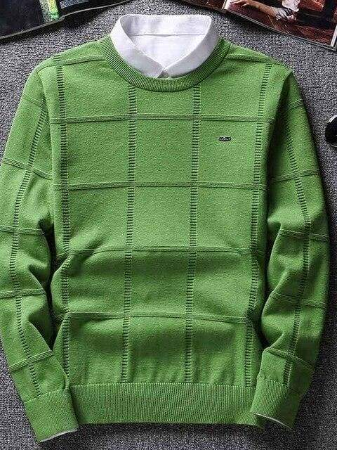 topman topgoldman boss luxury elegant sweaters for men-asian size-green-M
