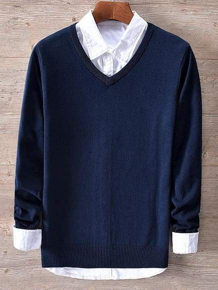 topman topgoldman boss luxury elegant sweaters for men-dark blue-XL (Asian size)
