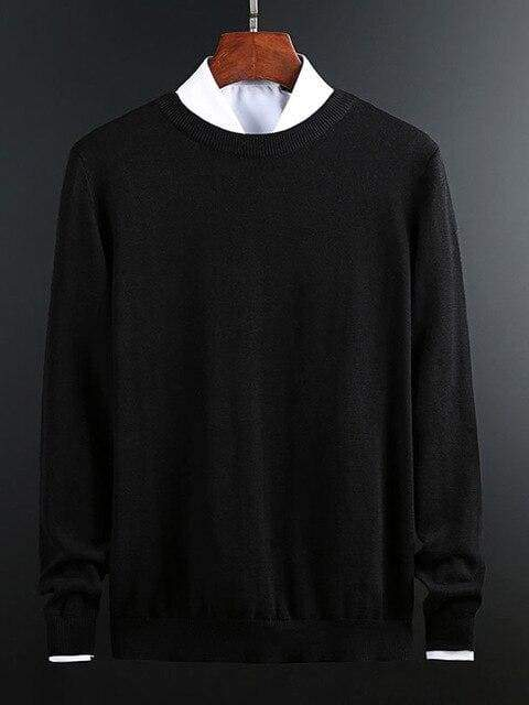 topman topgoldman boss luxury elegant sweaters for men-Black-XXL