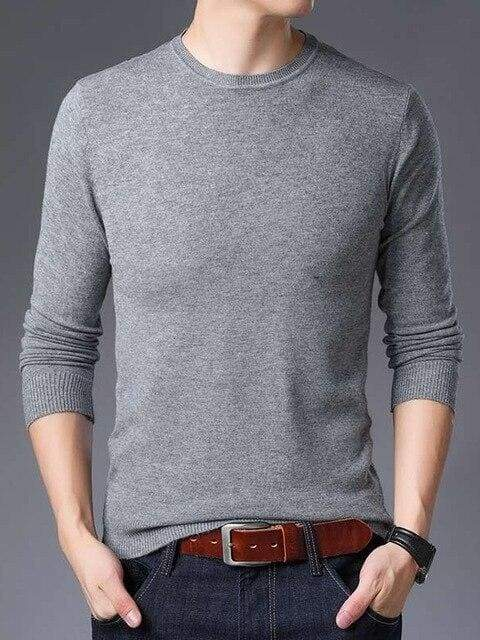 topman topgoldman boss luxury elegant sweaters for men-GRAY-XXL