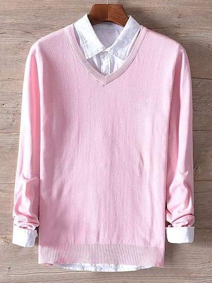 topman topgoldman boss luxury elegant sweaters for men-pink-XXL (Asian size)