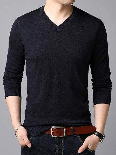 topman topgoldman boss luxury elegant sweaters for men-Navy Blue-XXXL