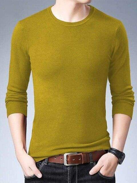 topman topgoldman boss luxury elegant sweaters for men-Yellow-XXXL