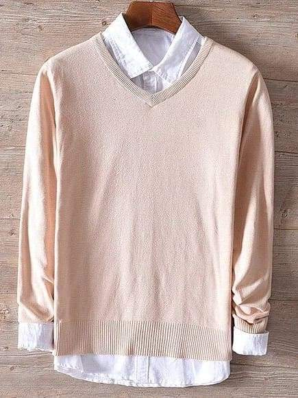topman topgoldman boss luxury elegant sweaters for men-apricot-XXXL (Asian size)