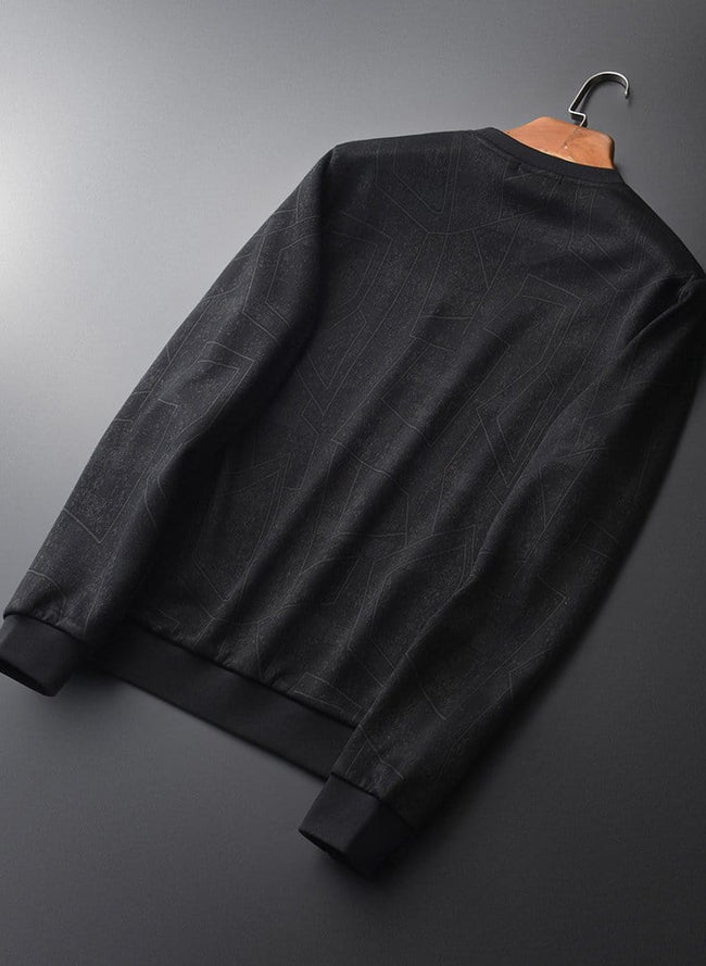 topman topgoldman boss luxury elegant sweatshirt for men-BLACK-4XL