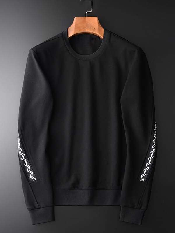 topman topgoldman boss luxury elegant sweatshirt for men-BLACK HW-19049S-XXXL