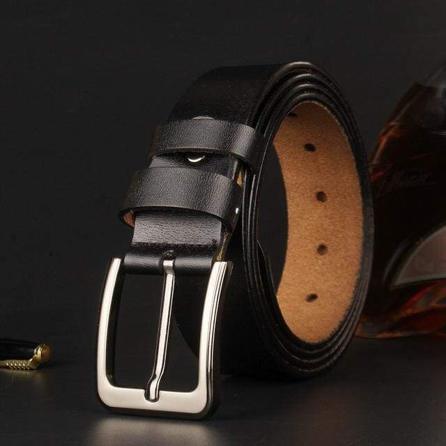 topman topgoldman boss genuine leather belt - black-105CM
