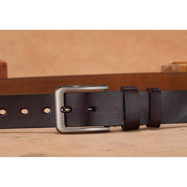topman topgoldman boss genuine leather belt - Brown-115cm(waist95-100cm