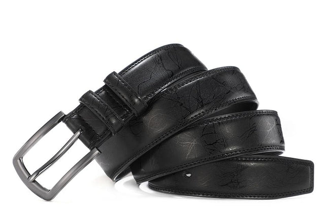 topman topgoldman boss genuine leather belt - Black-100cm