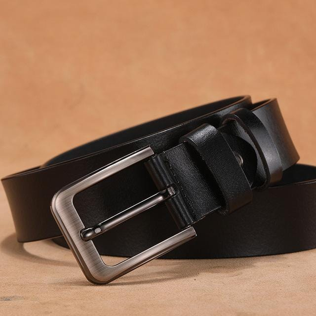 topman topgoldman boss genuine leather belt - Black-95cm(waist75-80cm