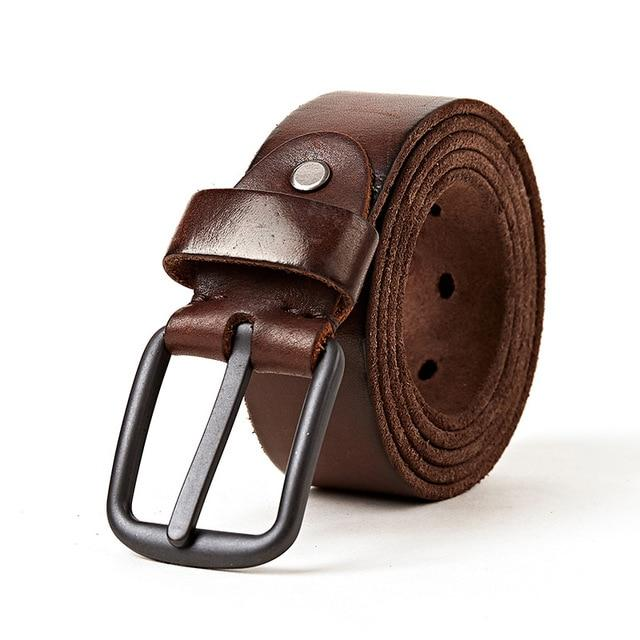 topman topgoldman boss genuine leather belt - Coffee-105CM