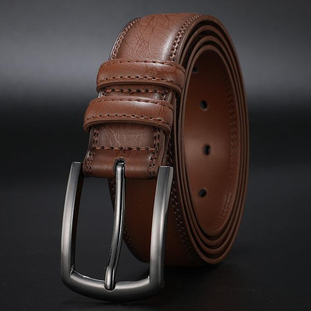 topman topgoldman boss genuine leather belt - Light Brown-110cm