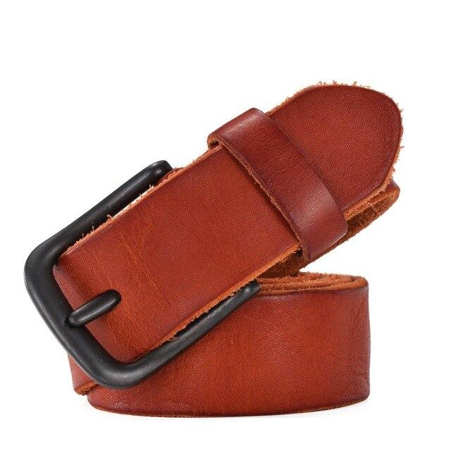 topman topgoldman boss genuine leather belt - tan-105CM