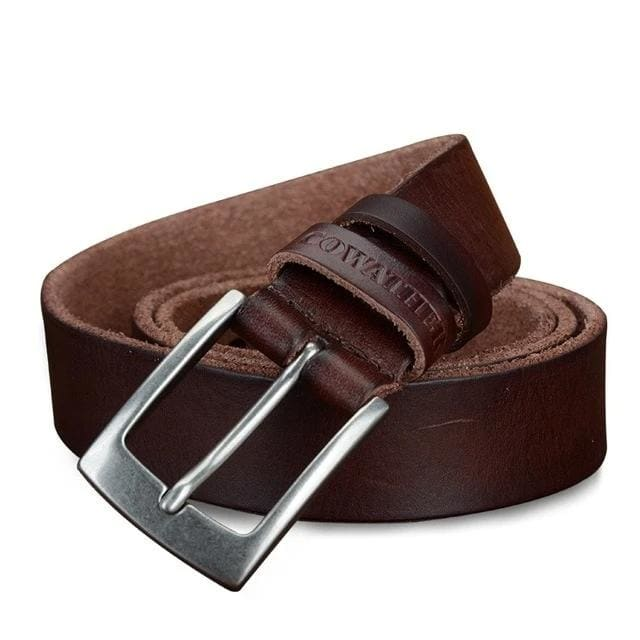 topman topgoldman boss genuine leather belt - XF018 brown-100cm