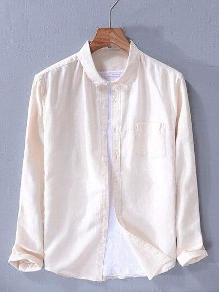 topman topgoldman boss luxury elegant shirts for men-khaki-XXXL