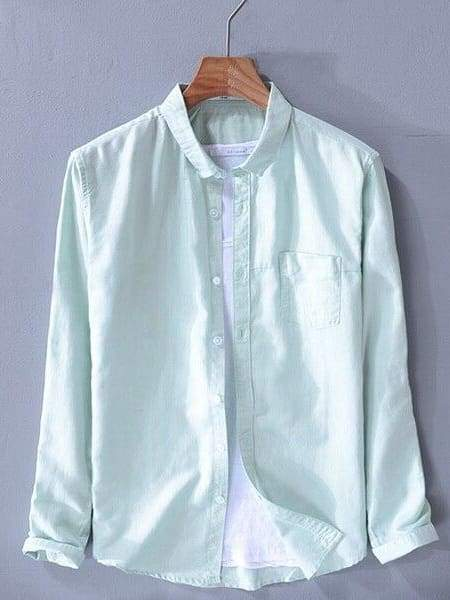 topman topgoldman boss luxury elegant shirts for men-water green-XL