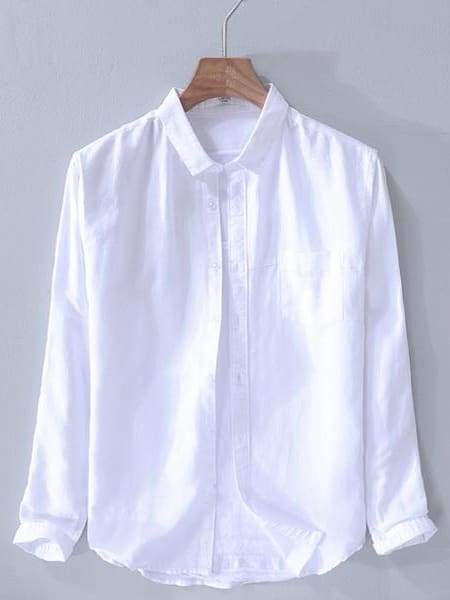 topman topgoldman boss luxury elegant shirts for men-white-M