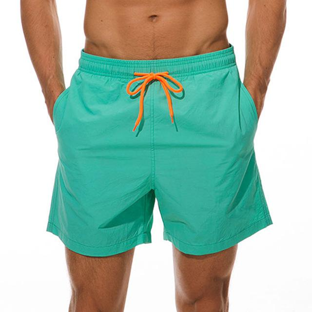 topman topgoldman boss elegant swim gym running shorts for men-Aqua-M