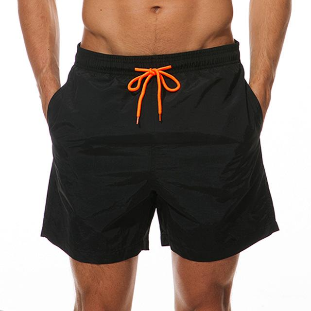 topman topgoldman boss elegant swim gym running shorts for men-Black-M