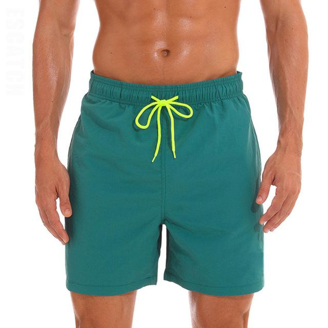 topman topgoldman boss elegant swim gym running shorts for men-Dark Green-M