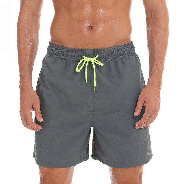 topman topgoldman boss elegant swim gym running shorts for men-Gray-M