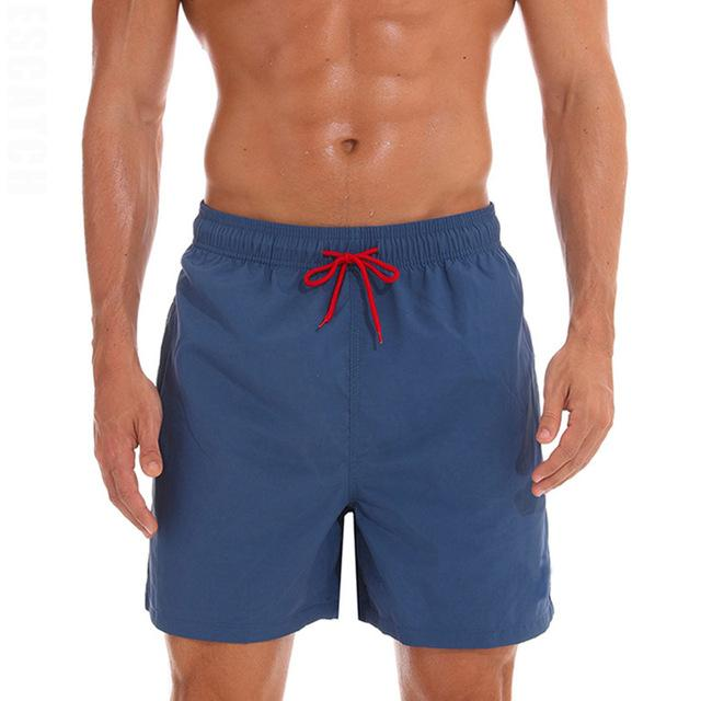 topman topgoldman boss elegant swim gym running shorts for men-Navy blue-M