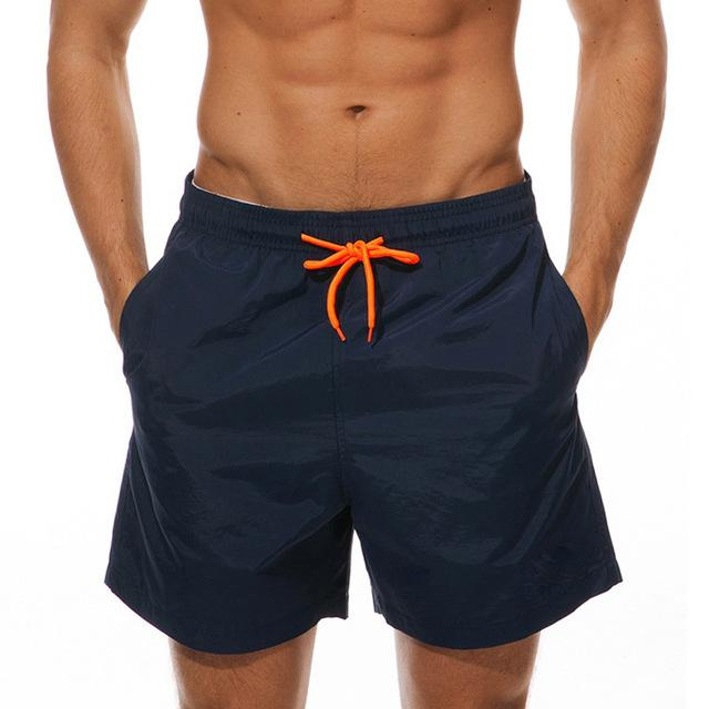 topman topgoldman boss elegant swim gym running shorts for men-Navy-M