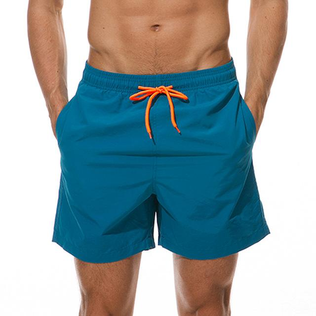 topman topgoldman boss elegant swim gym running shorts for men-Peacock Blue-M