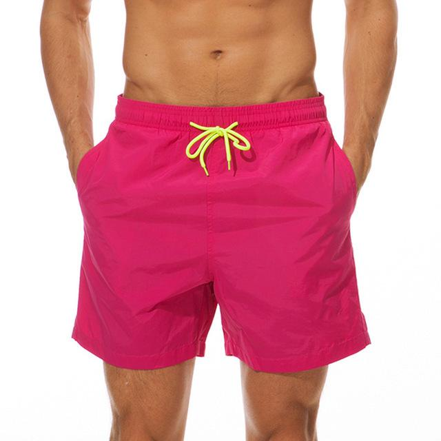 topman topgoldman boss elegant swim gym running shorts for men-Pink-M