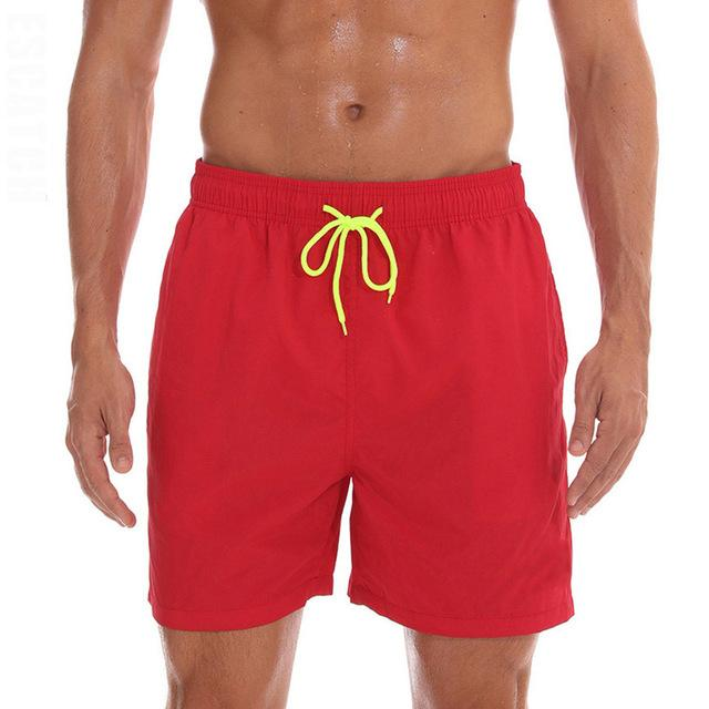 topman topgoldman boss elegant swim gym running shorts for men-Red-M