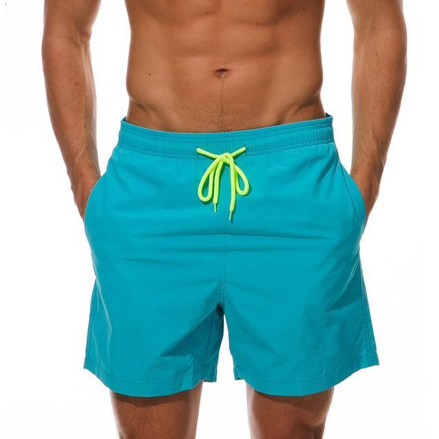topman topgoldman boss elegant swim gym running shorts for men-Sky Blue-M
